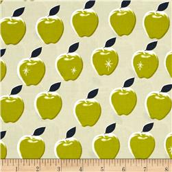 Cotton + Steel Picnic Apples Citron