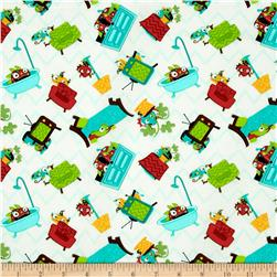 Monster Mash Hide & Seek Cream Fabric