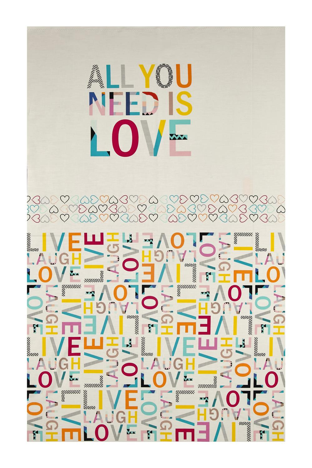 Art Gallery Letters All You Need Is Love 27'' Panel Fabric