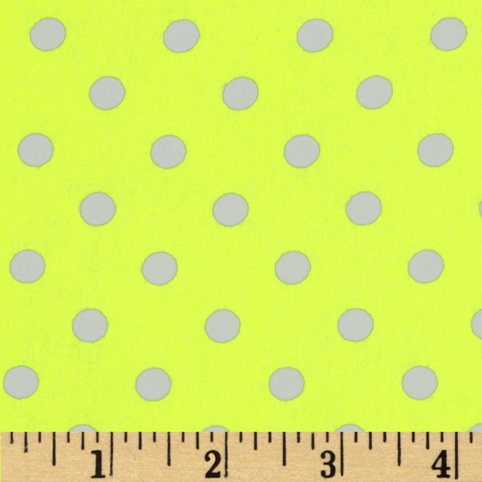 Peachskin Dots Yellow/White