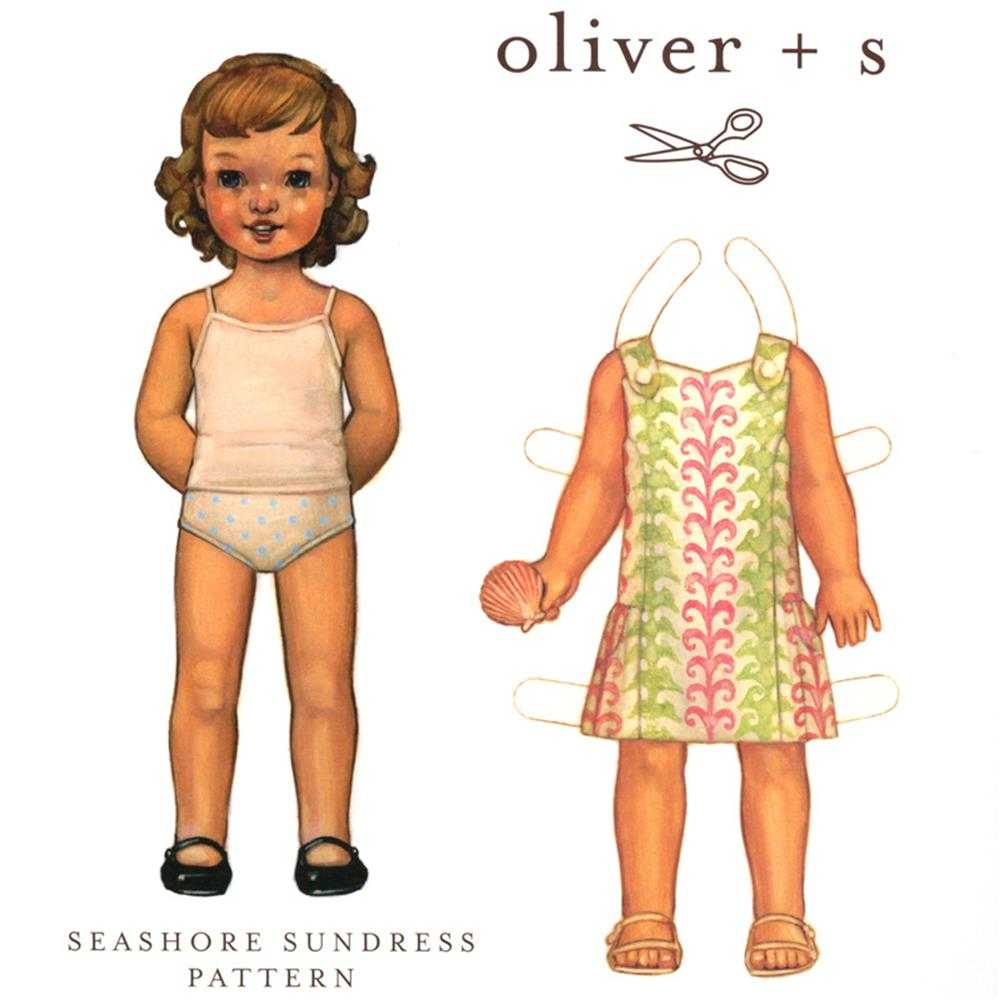 Oliver + S Seashore Sundress Pattern Size 6M-4