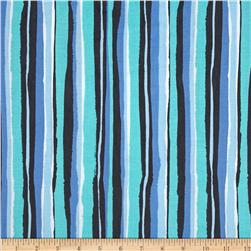 Michael Miller Migration Palm Stripe Blue