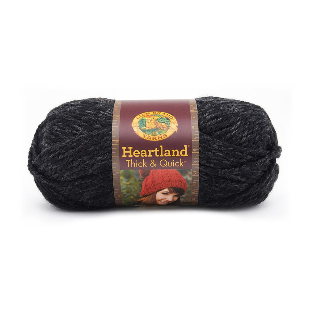 Lion Brand Heartland Thick & Quick Yarn Black