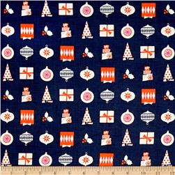 Cotton + Steel Noel Wrapped Up Navy