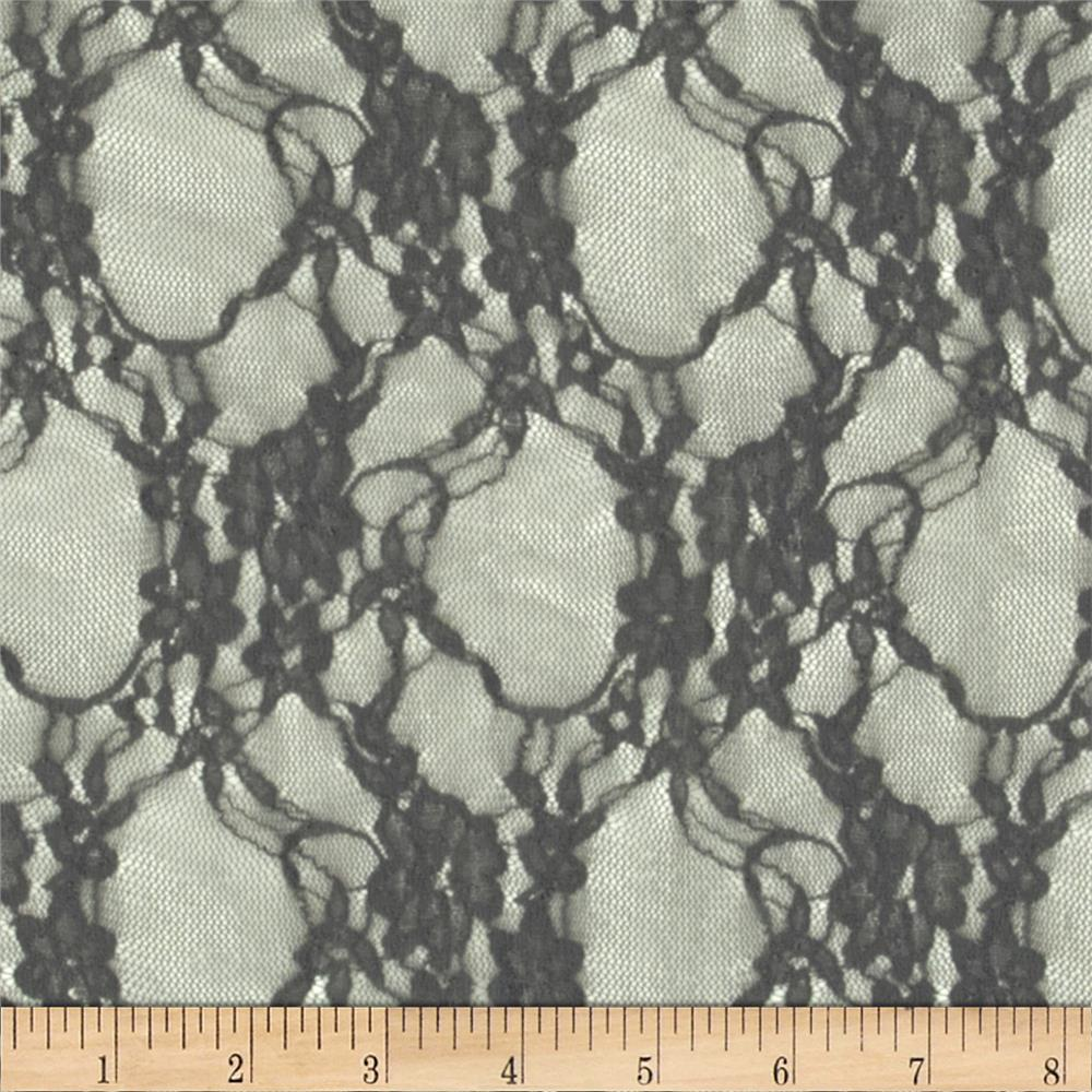 Telio Avita Stretch Lace Grey Fabric