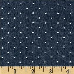 Kaufman Cotton Chambray Dots Indigo