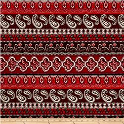 Liverpool Double Knit Paisley Hot Red/Brick/White