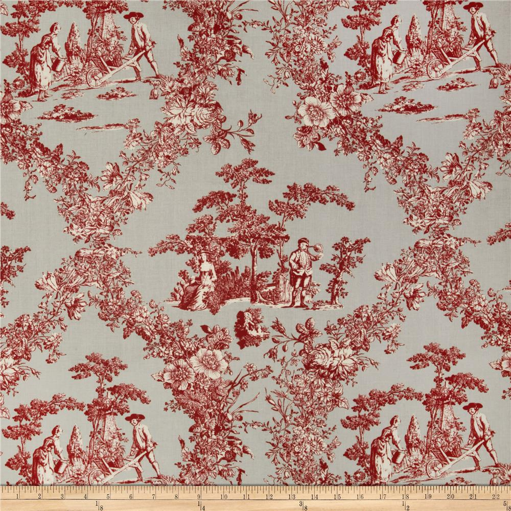 Hennessy Toile Gray/Red