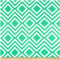 Polar Fleece Print Diamond Tile Green