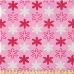 Fleece Flowers Pink/White