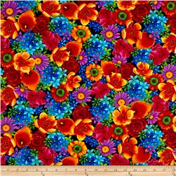 Timeless Treasures Paradise Mixed Floral Multi