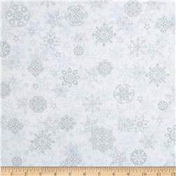 Holiday Cheer Snowflakes White/Grey
