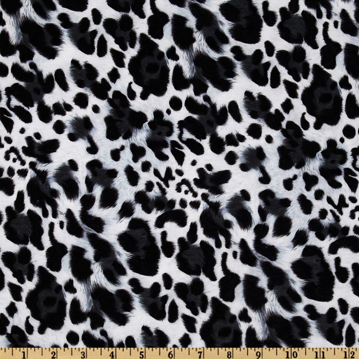 Kaufman Laguna Stretch Jersey Knit Leopard Snow Fabric