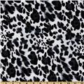Kaufman Laguna Stretch Jersey Knit Leopard Snow
