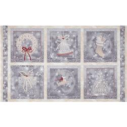Holiday Elegance Picture Patches Gray