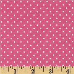 Riley Blake Swiss & Dots Hot Pink/White