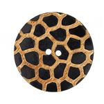Kathy Ireland Horn Button 2'' African Savannah Tan/Black