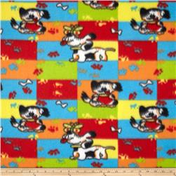 Fleece Dogs & Paw Prints Multi