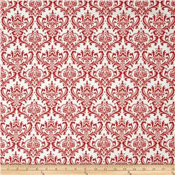 Premier Prints Madison Lipstick/White Fabric
