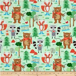 Camping Club Woodland Animals Green