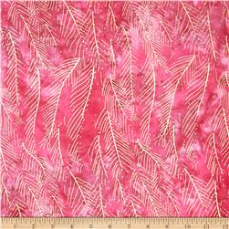 Indian Batik Montego Bay Leaf Metallic Pink