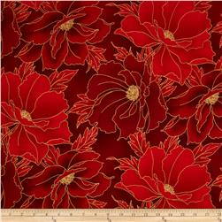 Imperial Collection Metallics Etched Leaf Crimson