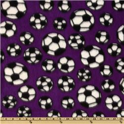 Sports Fleece Soccer Balls Purple