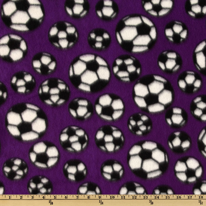 INOpets.com Anything for Pets Parents & Their Pets Sports Fleece Soccer Balls Purple Fabric