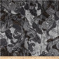 Colorado Shirting Paisley Black/Grey/White