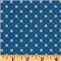 Penny Rose Gingham Girls Flower Blue