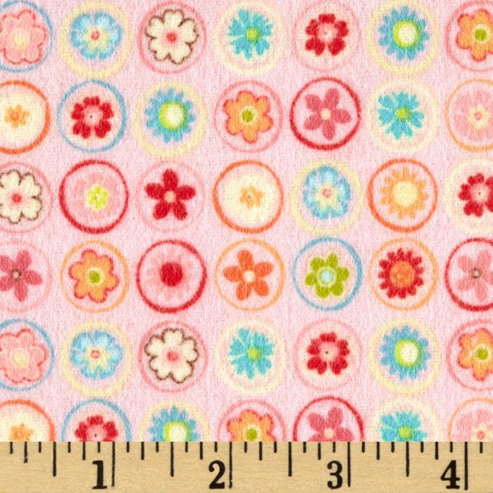 Riley Blake Happy Flappers Flannel Circles Pink