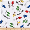 Dr. Seuss One Fish Two Fish Collage White