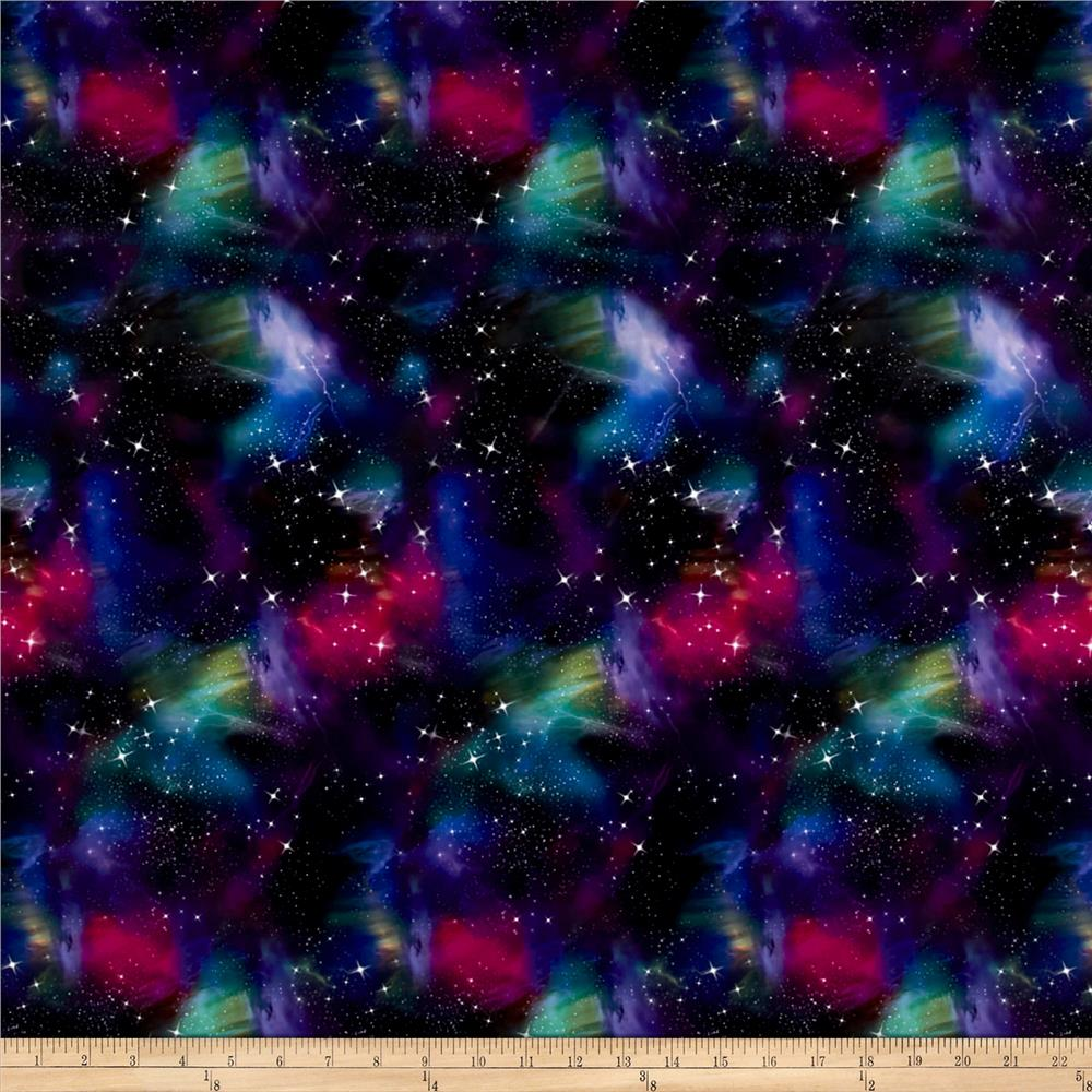 Pine crest fabrics deep space on olympus athletic double for Lycra space fabric