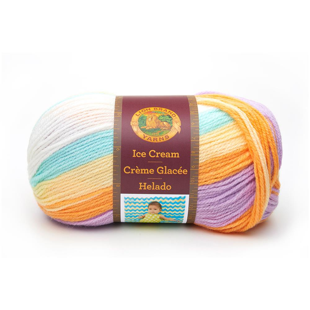 Lion Brand Yarn Ice Cream Banana Split