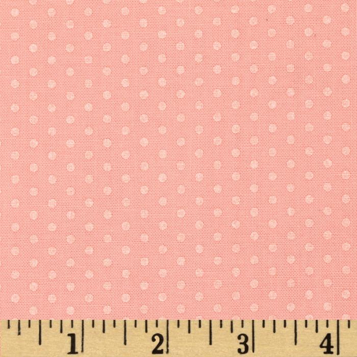Kaufman Spot On Pearl Metallic Small Dot Peach