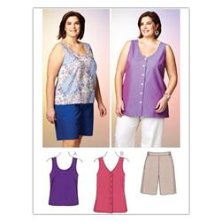 Kwik Sew Women's Short, Top, Tunic (3867) Pattern