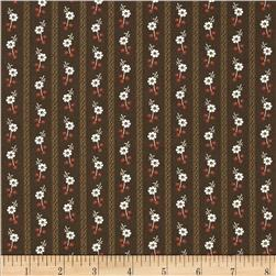 Molly B's 1800's Simply Harvest Floral Stripe Brown