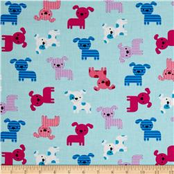 Kaufman Urban Zoology Little Dogs Aqua