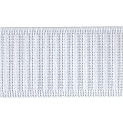 "1-1/2"" Non-Roll Ribbed Elastic White - By the Yard"