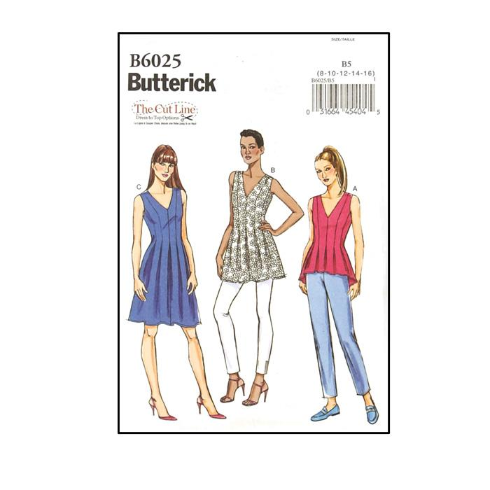 Butterick Misses' Top, Tunic and Dress Pattern B6025
