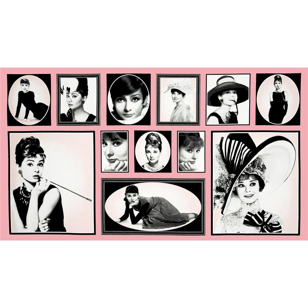 Hollywood Icons Panel Audrey Blocks Pink