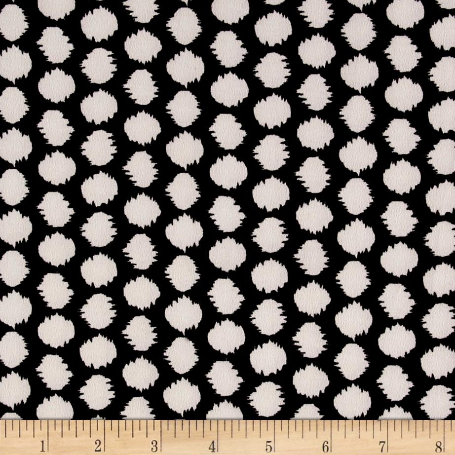 ITY Stretch Knit Abstract Black/Off-White Fabric