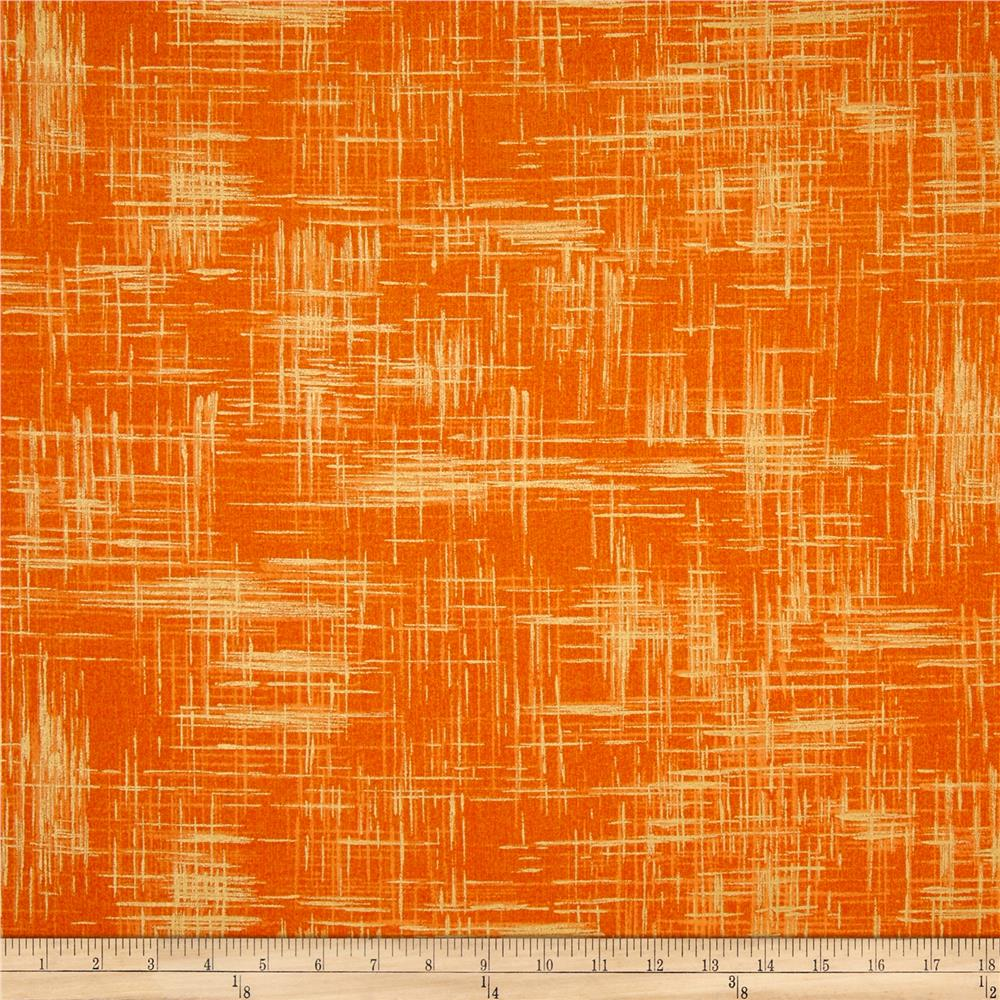 Michael Miller Valencia Painter's Canvas Orange Metallic