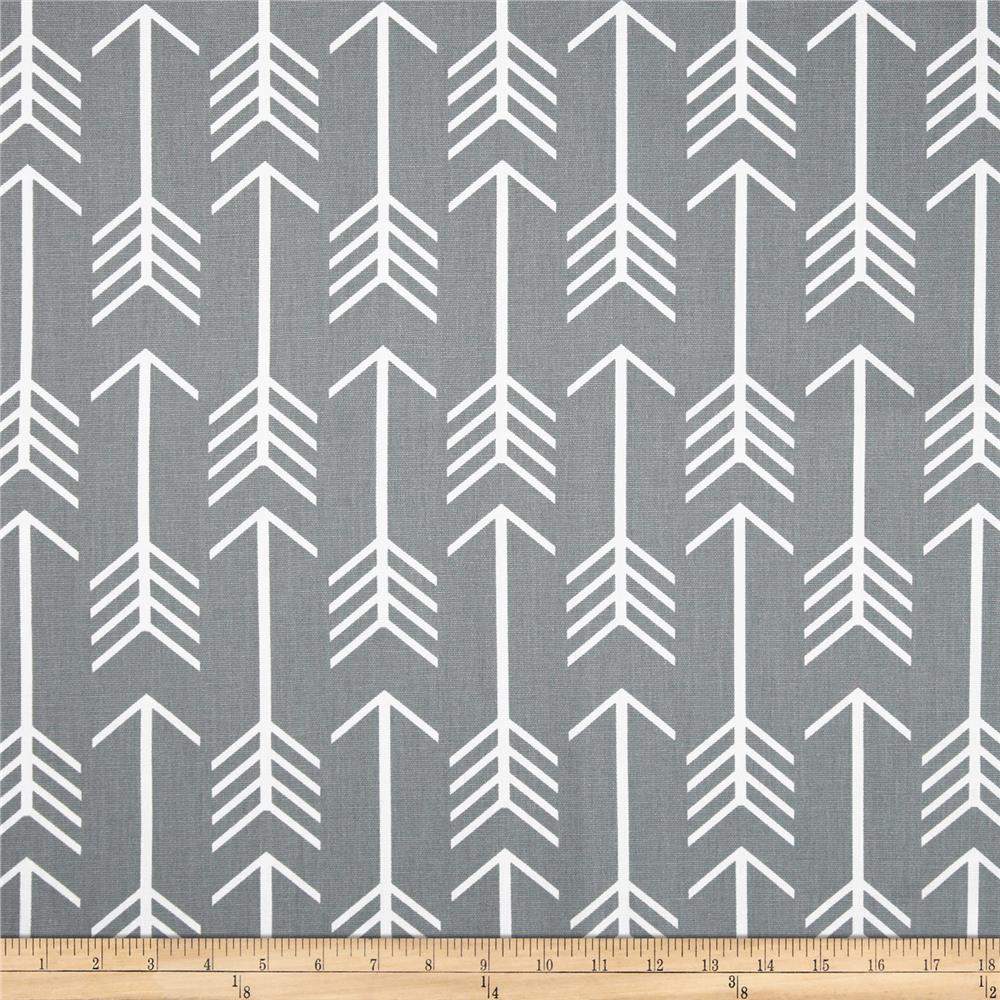 Premier prints arrow cool grey free shipping free returns for Modern fabrics textiles