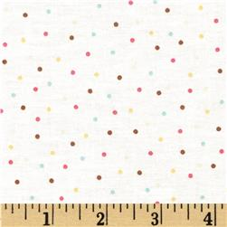 Baby Bundles Dots White/Multi Fabric