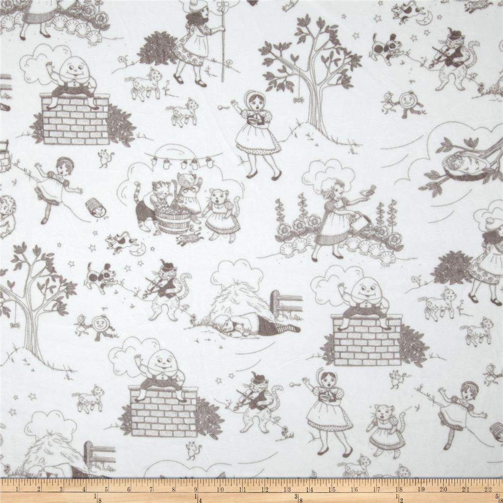 Minky Cuddle Classic Toile White/Charcoal