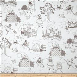 Minky Cuddle Classic Toile White/Charcoal Fabric