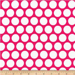 Kaufman Spot On Geo Dot Hot Pink