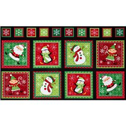 Holly Jollies Picture Patches 24'' Panel Black