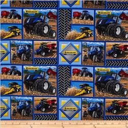 New Holland Tractor Patch Blue/Multi